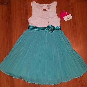 Girls Emily West turquoise dress